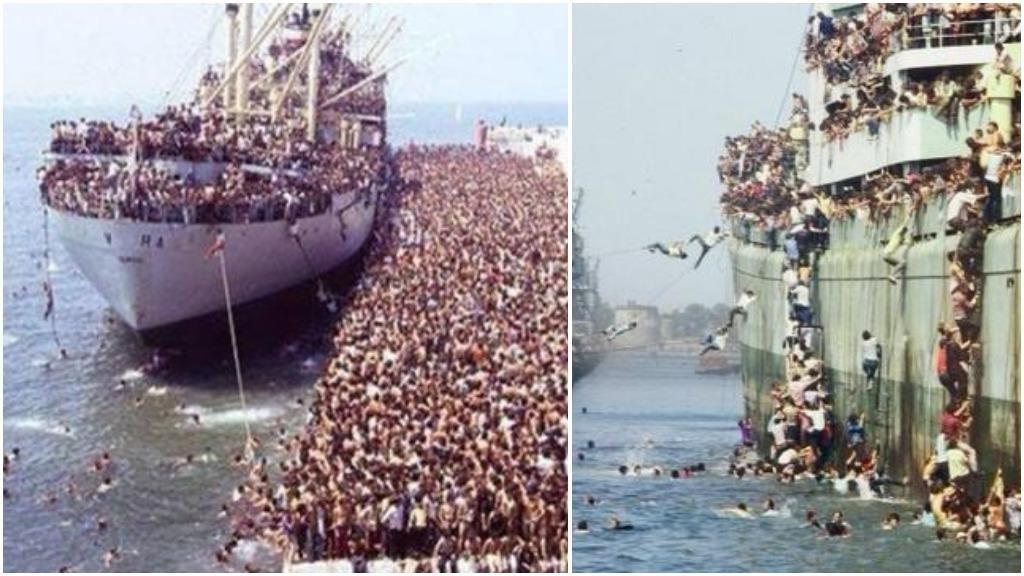"""صورة يستخدمها البعض لنشر شائعات حول العدد """"الهائل"""" للمهاجرين الوافدين إلى أوروبا"""
