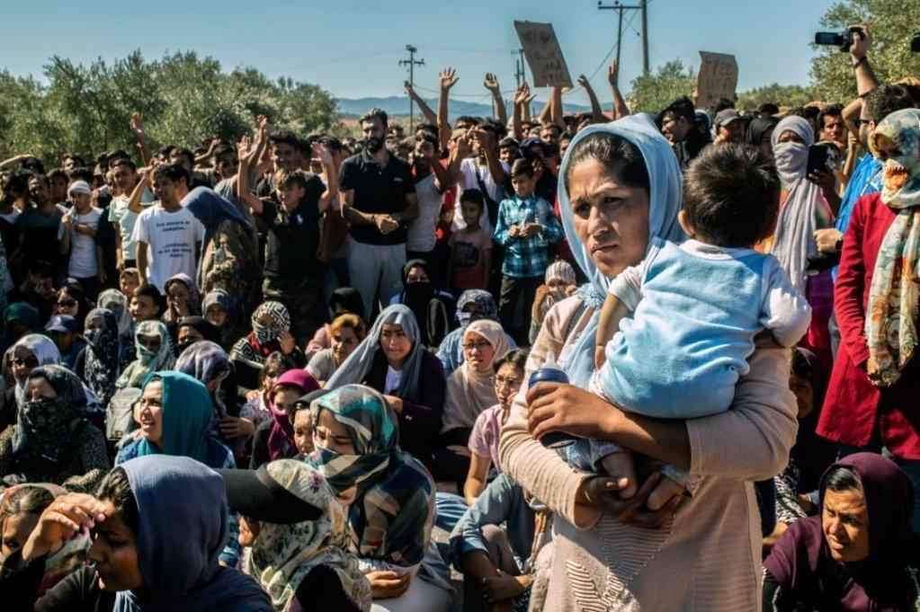 ظروف كارثية في مخيم موريا للاجئين. رويترز