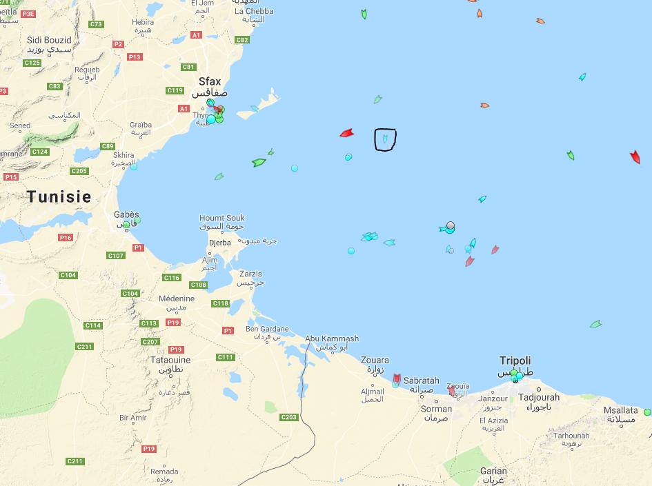 Le Mare Jonio au large des ctes libyennes le 18 mars 2019