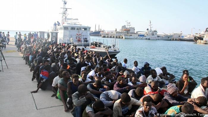 Migrants in Tripoli, Libya