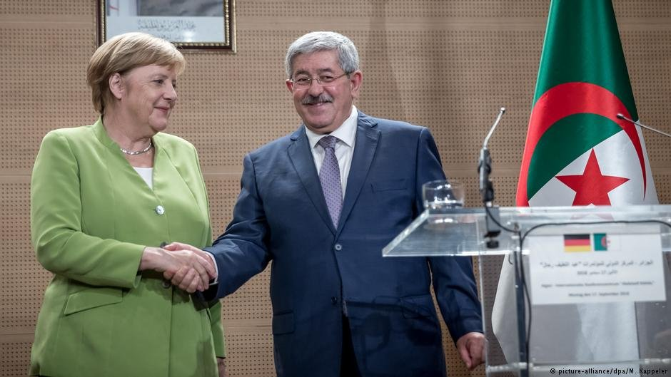 German Chancellor Angela Merkel and Algerian Prime Minister Ahmed Ouyahia in Algiers