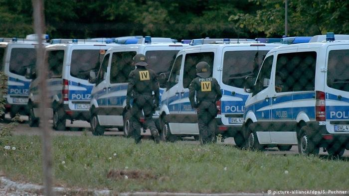 Police returned in force on May 3 to arrest the asylum seeker at Ellwangen  Credit picture-alliancedpaSPuchner