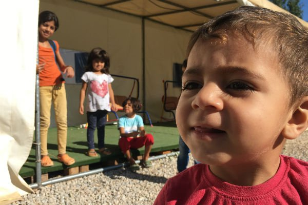 Le centre d'hébergement de Tilos abrite en ce moment 26 enfants. Crédit : Charlotte Boitiaux