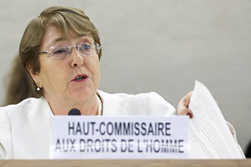 ANSA / ميشيل باشليه المفوضة السامية للأمم المتحدة لحقوق الإنسان. المصدر: إي بي أيه/ سالفاتوري دي نولفي.