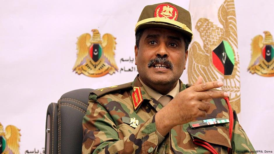 LNA spokesman  Brigadier Ahmed al-Mesmari after declaring preparations were almost complete to purge the west of Libya of terrorists and mercenaries  Photo AFPGetty ImagesA Doma