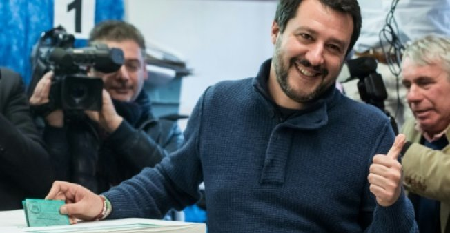 وزير الداخلية الإيطالي ماتيو سالفيني. أ ف ب