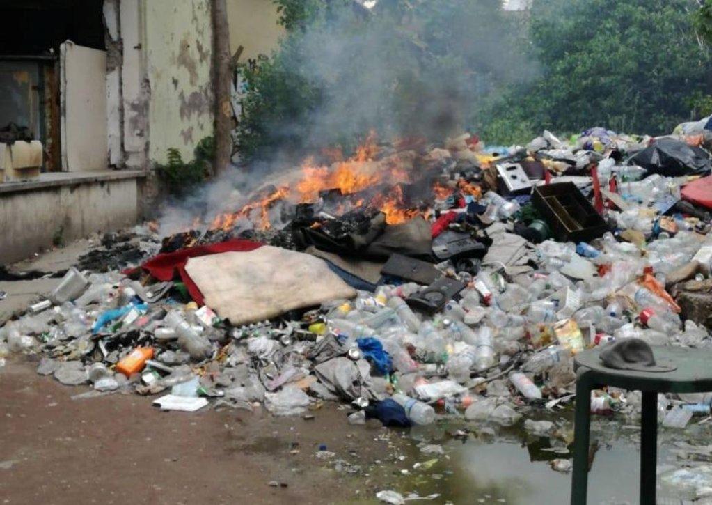 اندلاع حريق في مصنع البنسلين القديم في روما. المصدر: أنسا/التيرجو- فابريكا دي ديرتي
