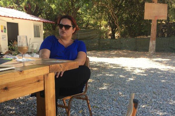 La maire de Tilos, Maria Kamma. Crédit : Charlotte Boitiaux