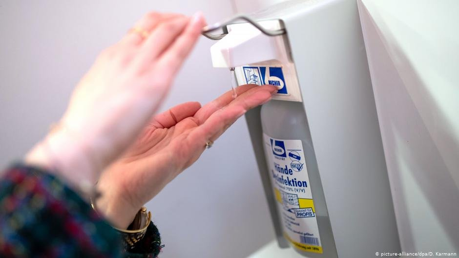 The WHO says that washing and disinfecting hands is one of the key precautions people have to take to control the spreading of the virus  Photo  picture-alliancedpaD Karmann