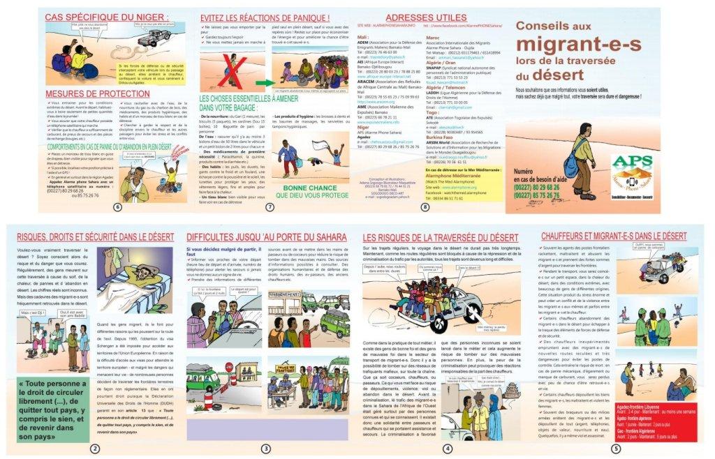 PHOTO Des conseils pour les migrants voulant traverser le Sahara  Source  Alarme Phone Sahara