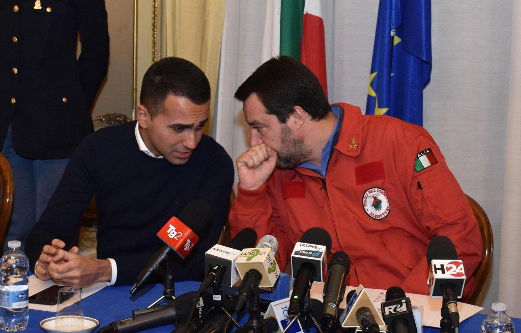 The two Italian deputy premiers, Luigi Di Maio and Matteo Salvini | PHOTO/ANSA/ORIETTA SCARDINO