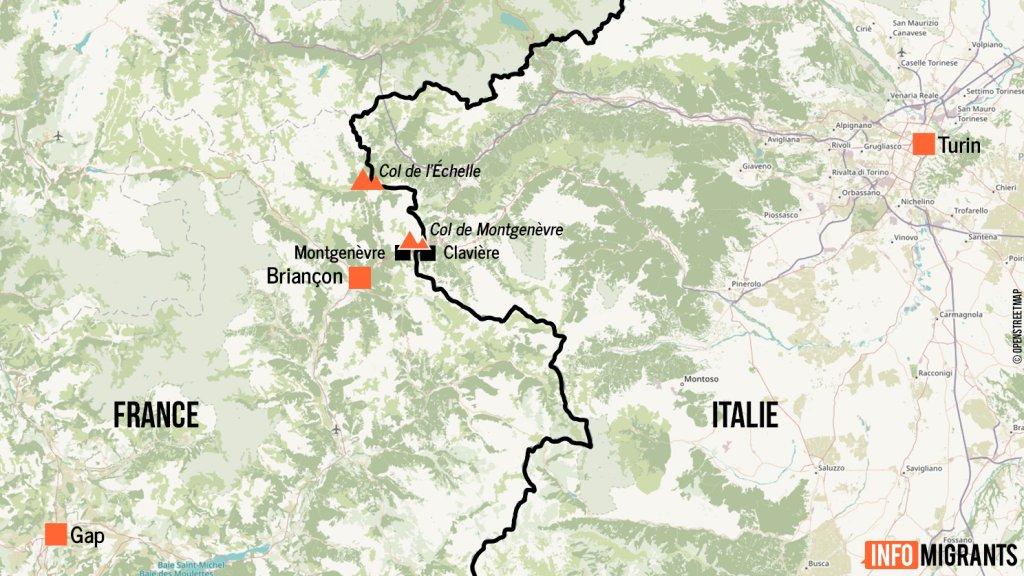 La plupart des migrants partent de Claviere en Italie avant de franchir le col de Montgenvre Crdit  InfoMigrants
