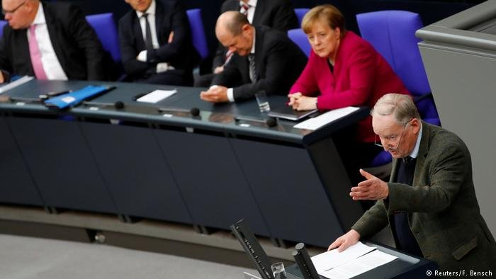 Gauland said that Germany was coming apart at the seams but the other parties largely ignored him