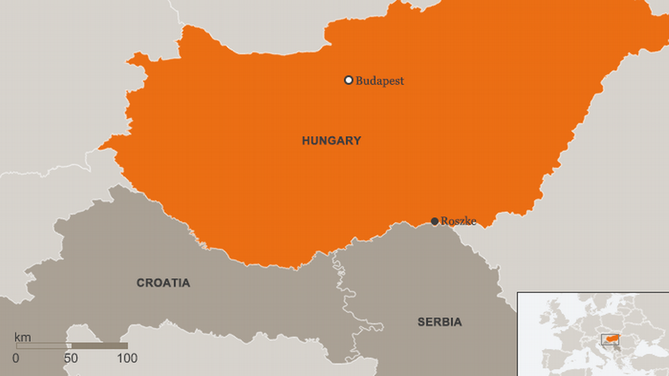 Roszke was a key entry point in 2015 for migrants traveling to Europe. The country has sealed off a large part of its border with Serbia and Croatia.