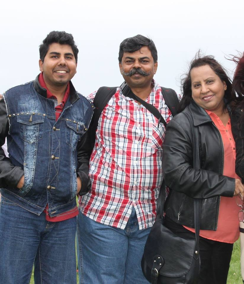 Wilson Charles and Ruth Mukerjee pose in this family photo Photo Asylum Link Merseyside Facebook