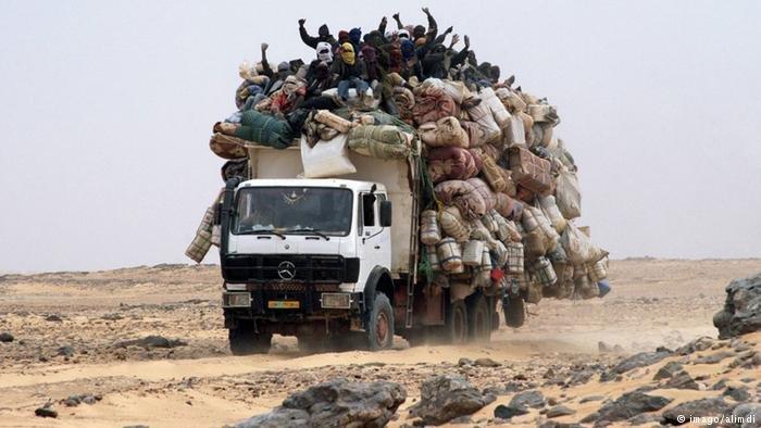 Migrants in the sahara