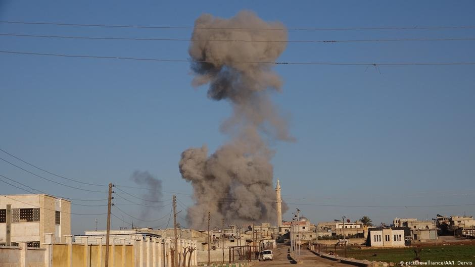 Smoke rises from an airstrike in Idlib  Photo Picture-allianceAAIDervis