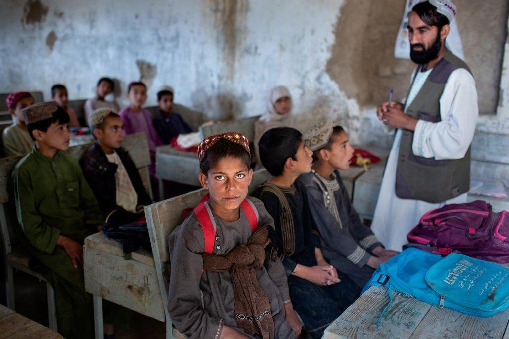Une cole dans la province de Kandahar en Afghanistan avril 2019  UNICEFUN0309060Kokic