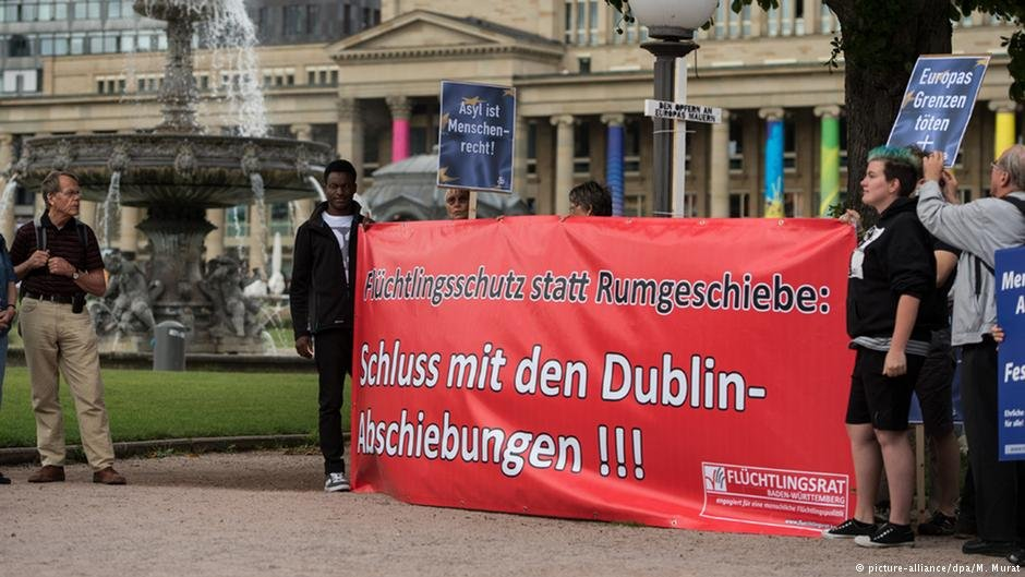 Protests against the EUs Dublin system have been increasing in Germany