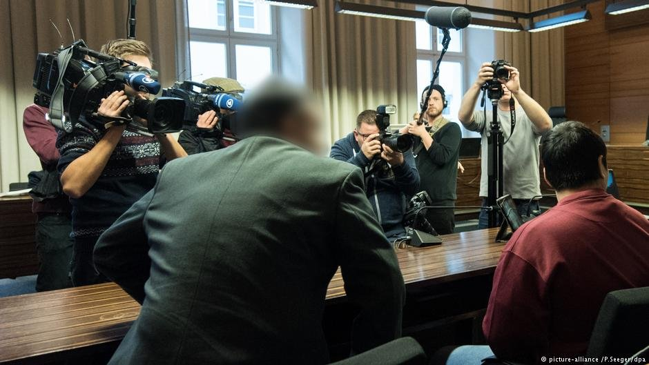 From file: Hussein K. (right) in court in Freiburg on November 7, 2017