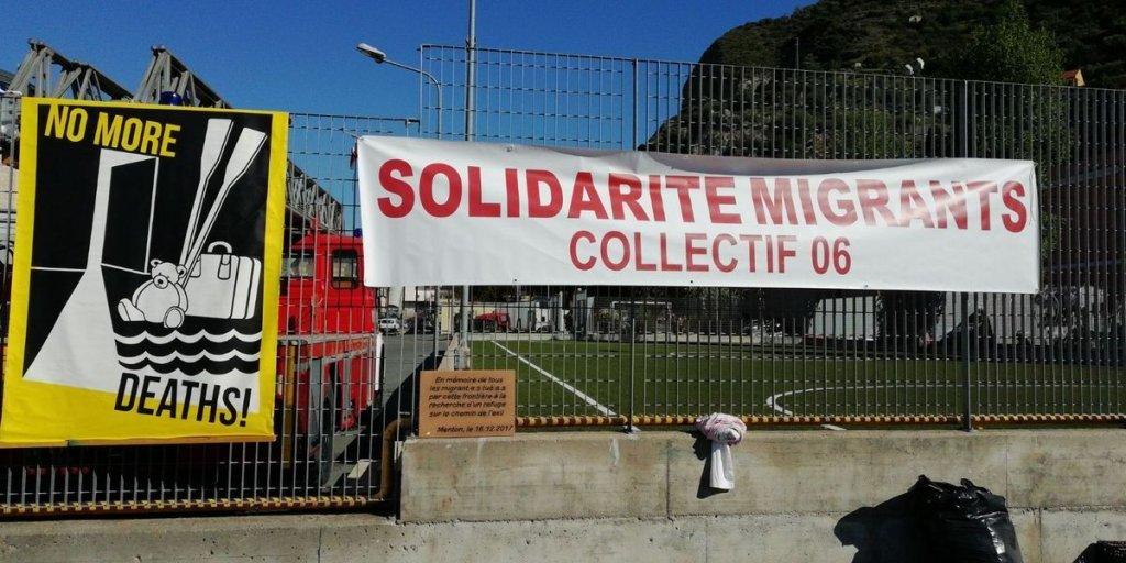 ansa / ملصق يدعو لدعم مسيرة فينتيميليا - كاليه من أجل التضامن مع المهاجرين. المصدر: أنسا.