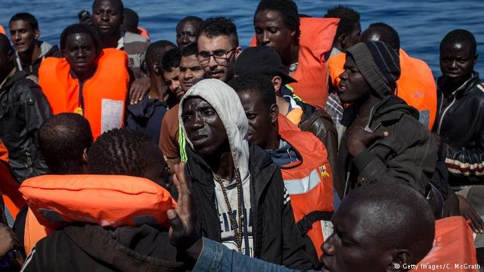 These refugees and migrants were picked up by NGO MOAS on May 18