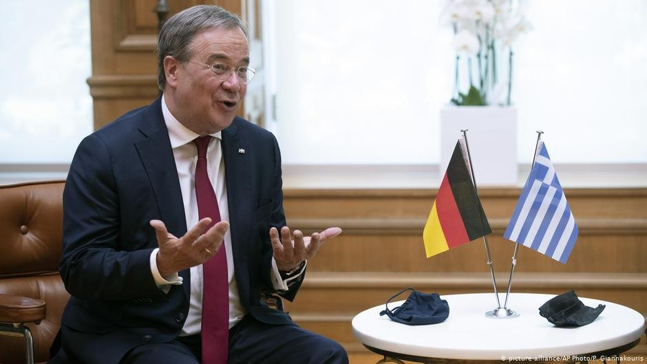 Armin Laschet, who visited Moria in August, is one of the candidates for the chairmanship of Germany's ruling party CDU | Photo: Picture-alliance/AP Photo/P.Giannakouris