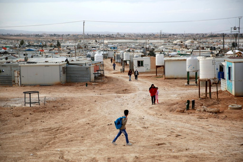 The Zaatari refugee camp in Jordan Photo: Archive/EPA/Andre Pain