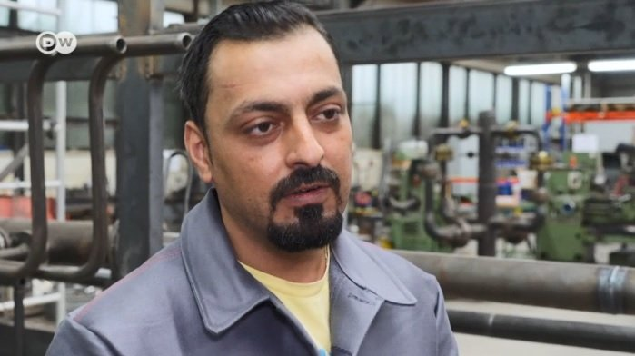 Syrian migrant Waleed Ragb was employed after taking the MySkills test