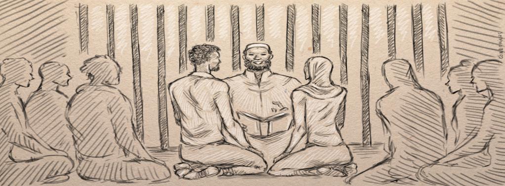 Jalal et Leila se sont mariés dans leur prison avec l'aide d'un autre détenu.