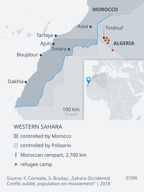 Map of Western Sahara | Credit: DW