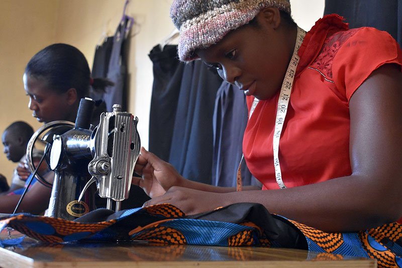 The social enterprise Kibebe gives refugees and local Malawians job skills and helps them to be self-reliant | Credit: There is Hope Malawi