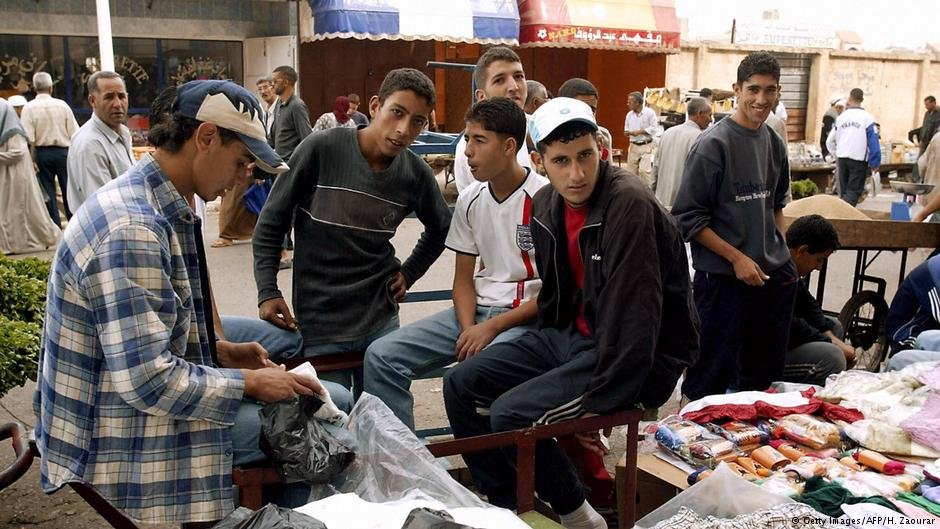 Young men in Bachdjarah, Algeria