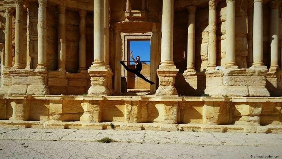 """I'm very proud to have had this opportunity to dance there,"" says Ahmad Joudeh of his experience dancing on the ancient city of Palmyra, which was destroyed in the Syrian conflict 