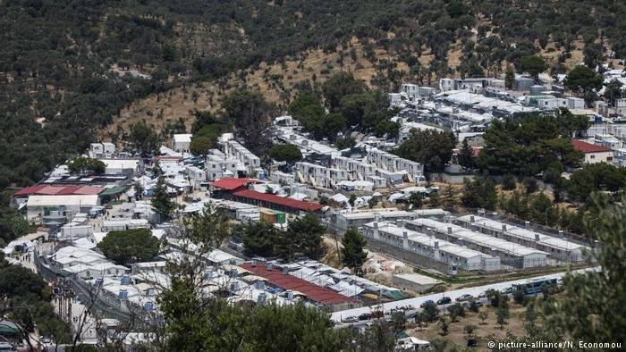 Moria refugee camp on the Greek island of Lesbos  Photo Picture-allianceNEconomou