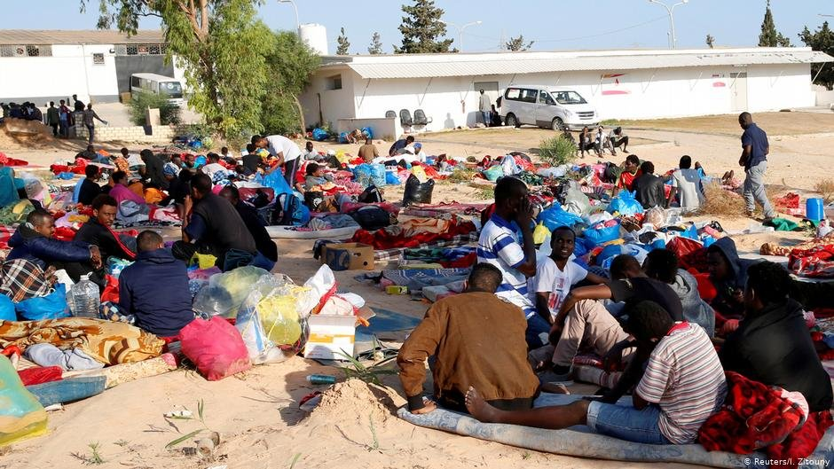 People at the Tajoura detention center for migrants | Photo: Reuters/I.Zitouny
