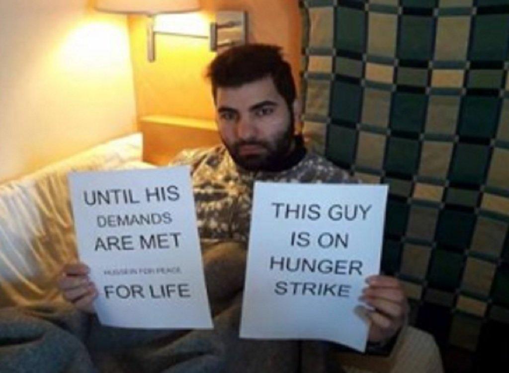 حسين هنية، طالب لجوء فلسطيني سوري في اليونان