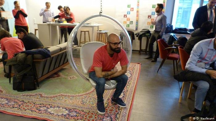 Badr  the physicist from Iraq is now an intern with Deutsche Telekom