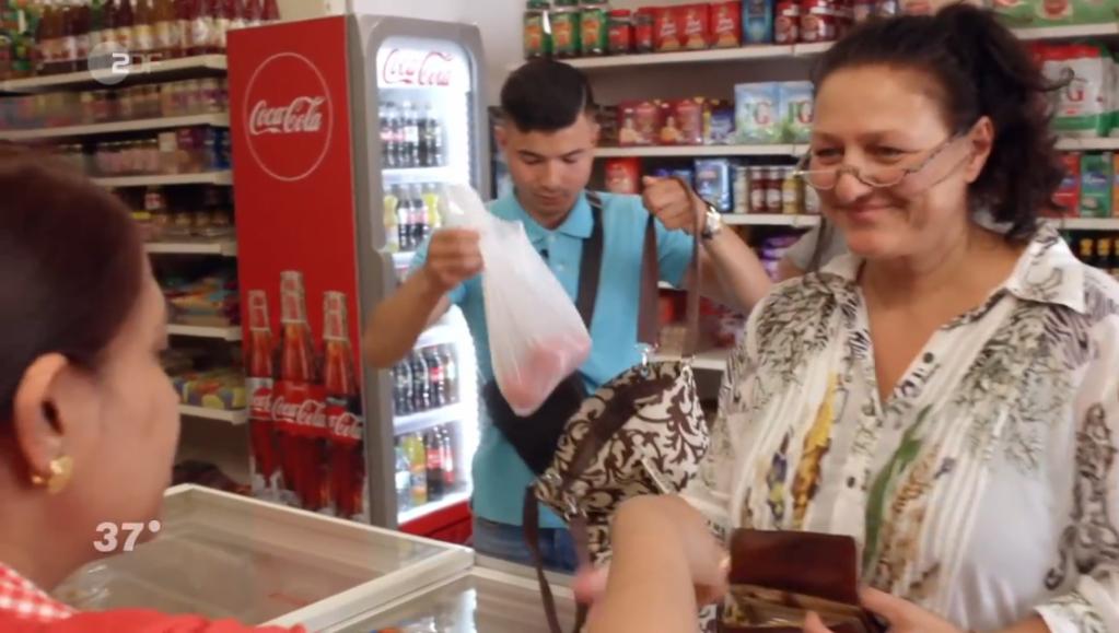 Dina has been helping Samir navigate life in Germany  Credit Screenshot ZDF documentary
