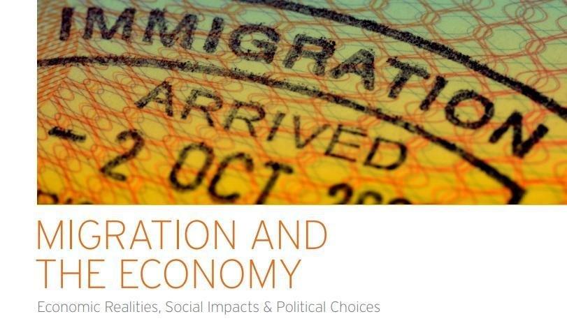 "ansa/غلاف دراسة ""الهجرة والاقتصاد.. الحقائق الاقتصادية والتأثير الاجتماعي والاختيارات السياسية"""