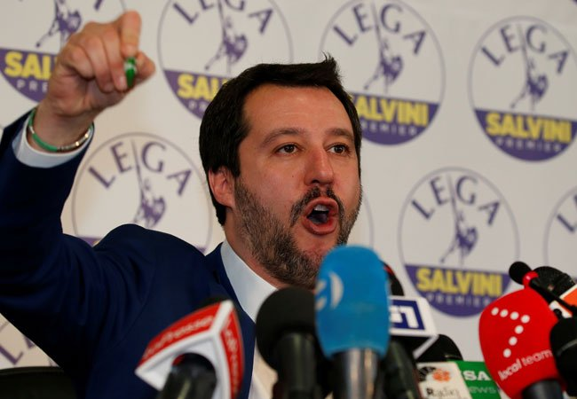 Le leader de La Ligue Matteo Salvini Crdit  Reuters