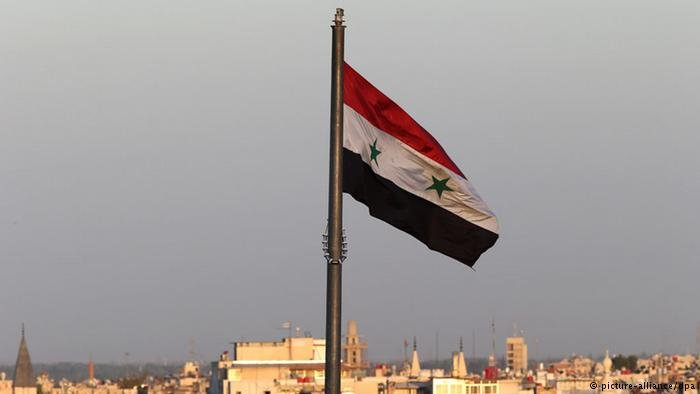 The Syrian flag in Damascus