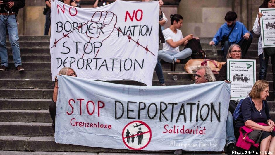 اعتراض علیه خراج پناهجویان افغانستان در آلمان (۱۴ اگست ۲۰۱۸)