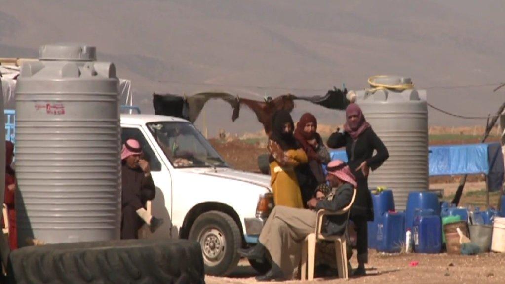 لاجئون سوريون في لبنان. أرشيف