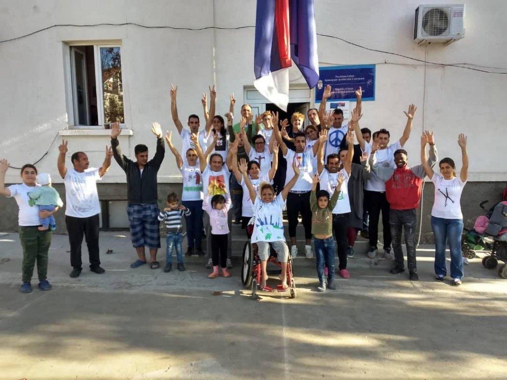 Dans le centre d'accueil serbe de Bosilegrad. Crédit : DR