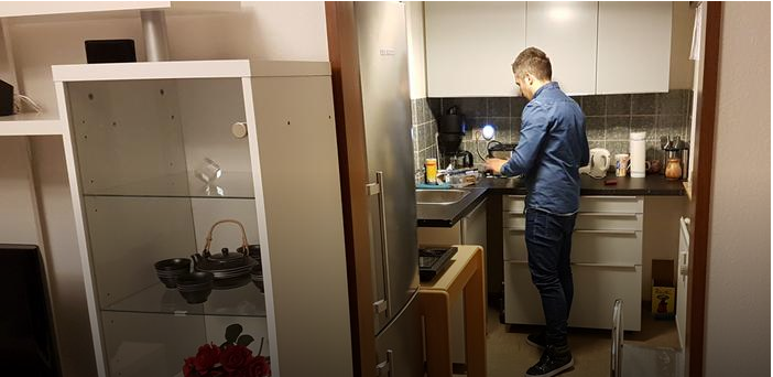Mohamad Kayali in his apartment in Cologne Credit DWG Borrud