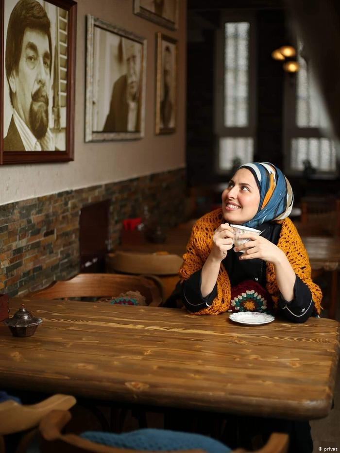 Malakeh Jazmati in her empty restaurant | Photo: Private