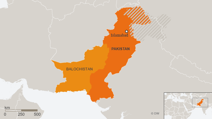 Map of Baluchistan, Pakistan
