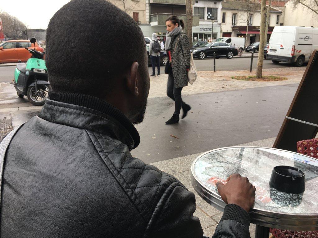 سیسوکو در پاریس، فبروری ٢٠١٩. عکس از مهاجر نیوز