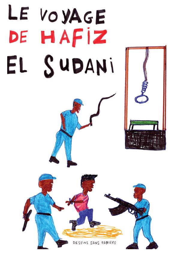 La couverture du livre d'Hafiz. Crédit : Hafiz Adem / Dessins Sans Papiers
